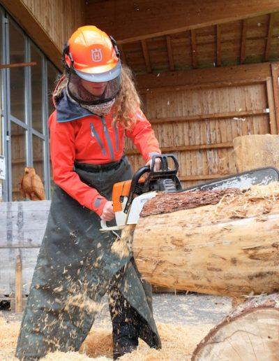 RausEvent Holzbankschnitzen